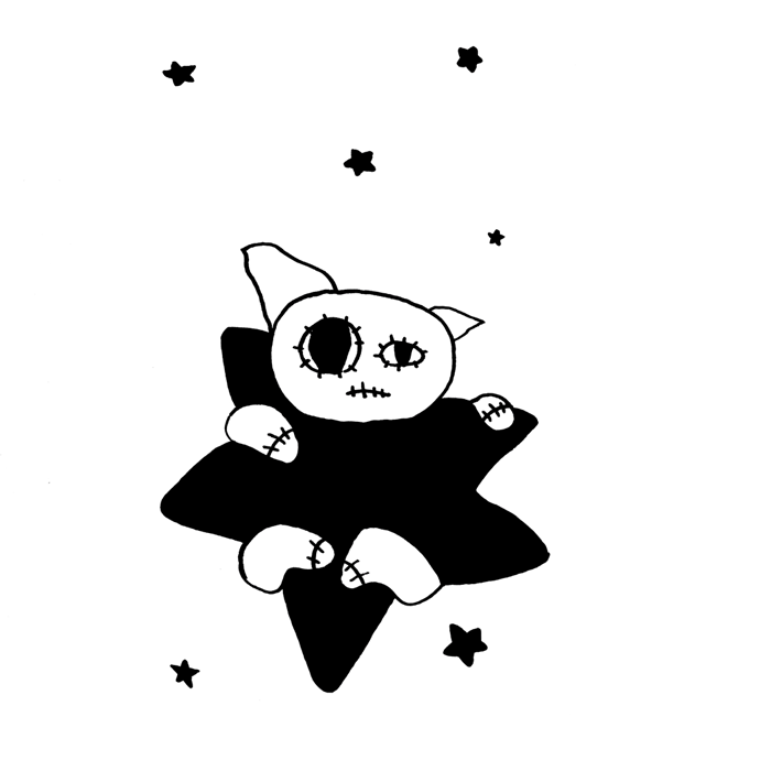 cat and star